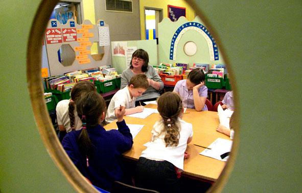 School Photography   Children Through Window