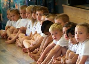 School Photography   Children Ready for P E