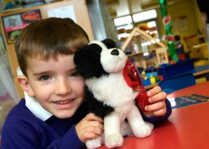 School Photography | Boy with Toy Dog