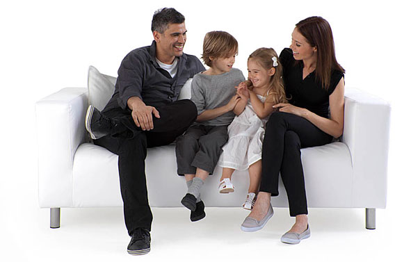 Advertsing Photography | Family on Sofa
