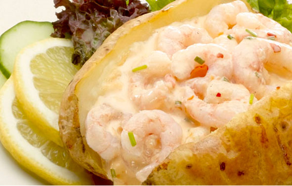 Food Photography | Jacket Potato with Prawns