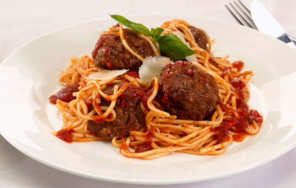 Food Photography | Meatballs on White Plate