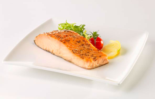 Lifestyle Photography | Salmon on White Plate
