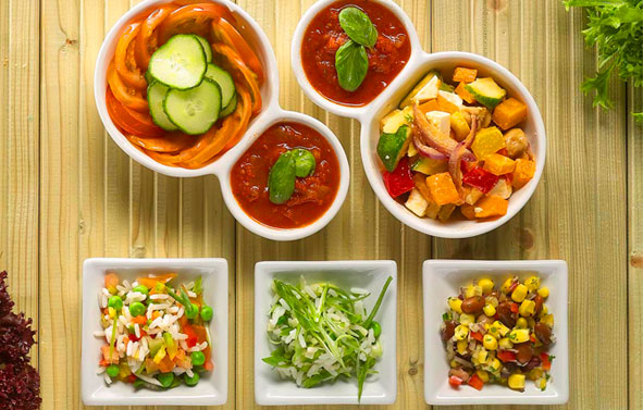 Food Photpgraphy   Medley of Food Dishes