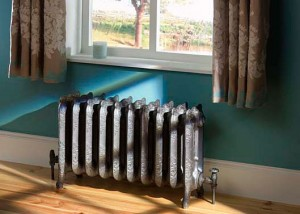 Lifestyle Photography | Room Set with Cast Iron Radiator