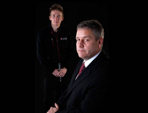 Portrait photography: Professional golfer and his sponsor