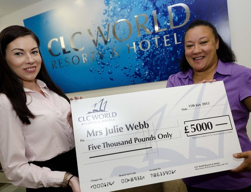 PR Photography: Hand over of large cheque to winner.