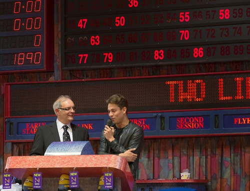 PR photography : Celebrity at bingo hall
