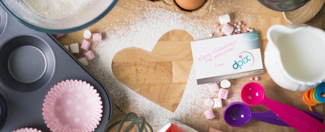 Food Photographer Birmingham - valentines cake ingredients- dpix creative photography