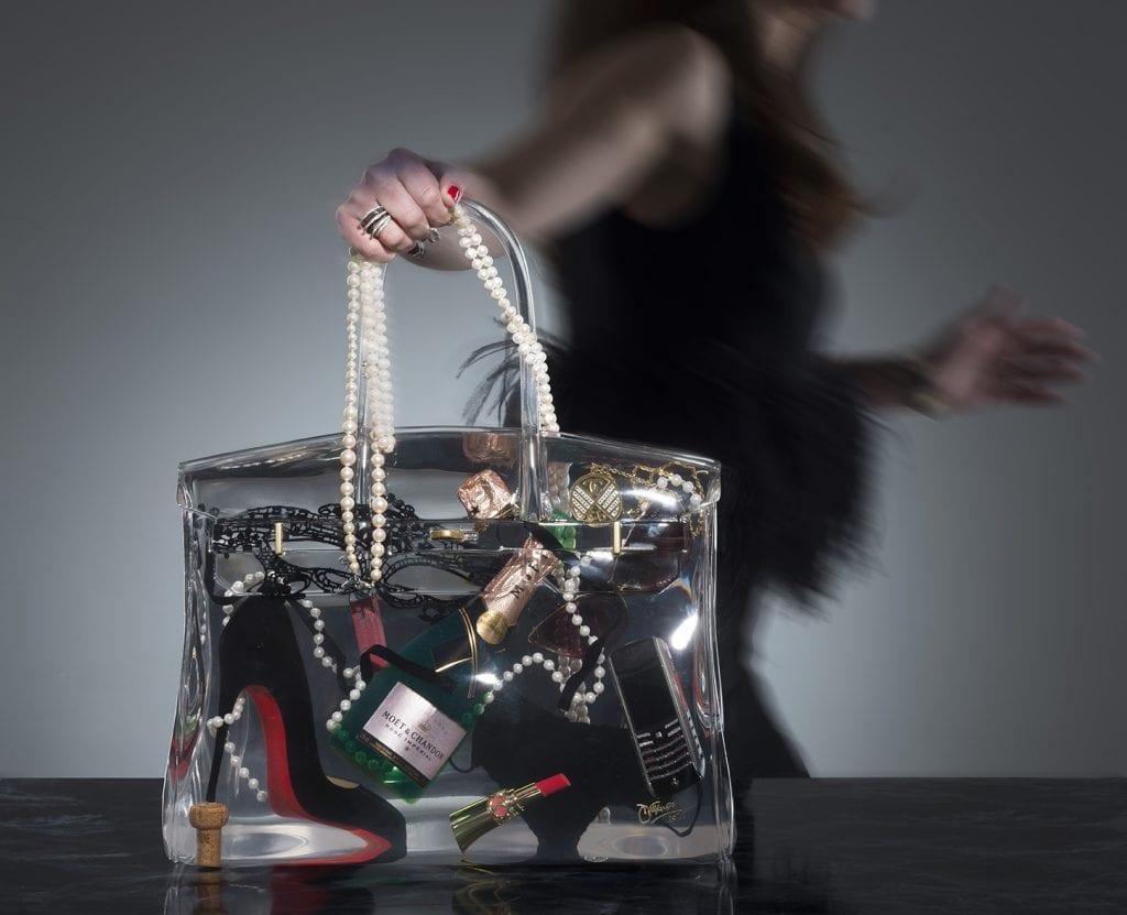 Studio photography of art bag product